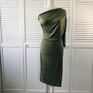 CBR Exclusive Selection Green One Shoulder Dress
